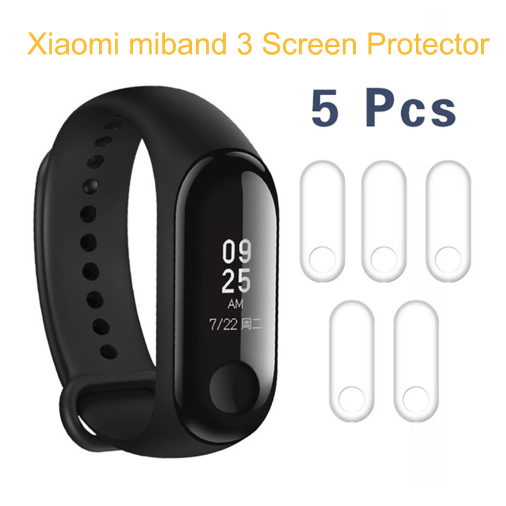 5pcs/lot For Xiaomi Mi Band 3 Band3 Screen Protector Miband3 Mi band 3 HD Ultra Thin Anti-scratch Protective Film Guard цена