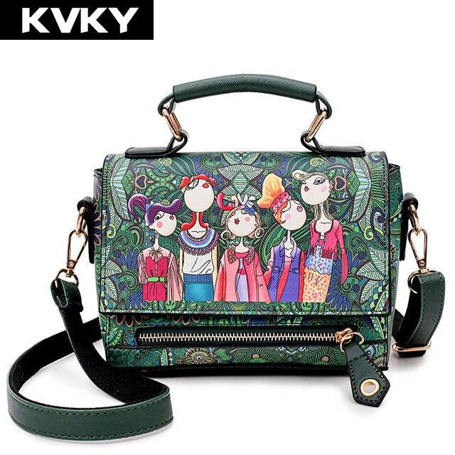 KVKY Brand Women s Handbags Hot Sale Small Soft Leather Shoulder Bags  Fashion Designer Ladies Leather Messenger Bag Bolsas 88596ee73