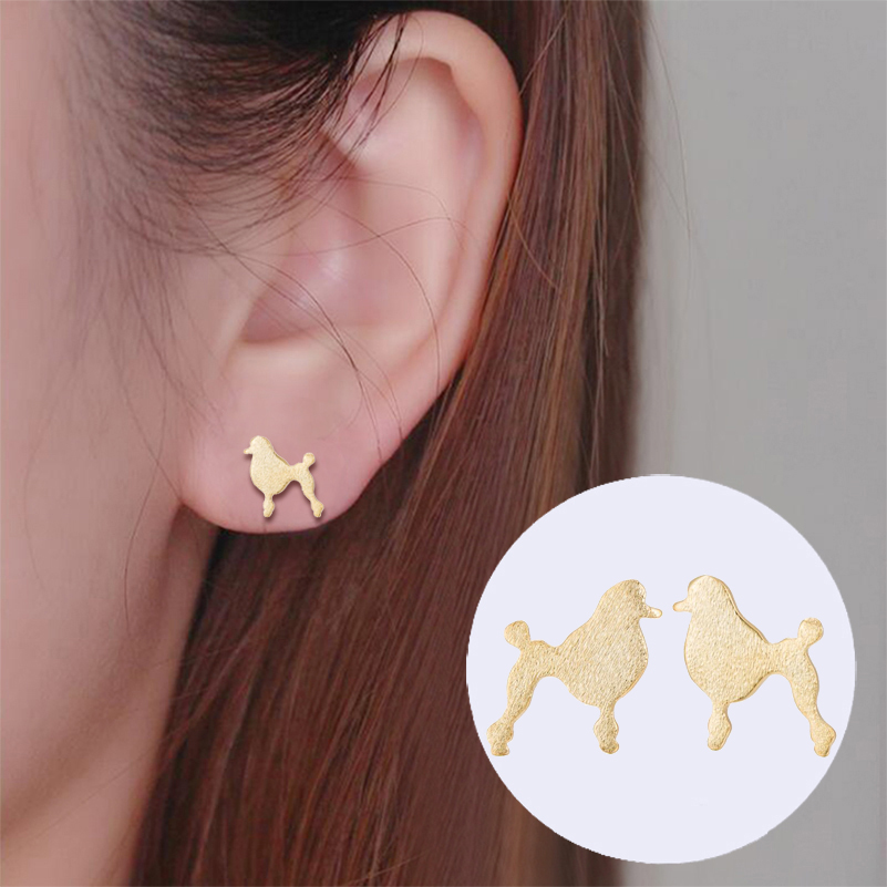 yiustar 1 pair Drop Ship Cartoon Shape Dog Stud Prisoner Earring Animal Men Ear Boho Hip ...