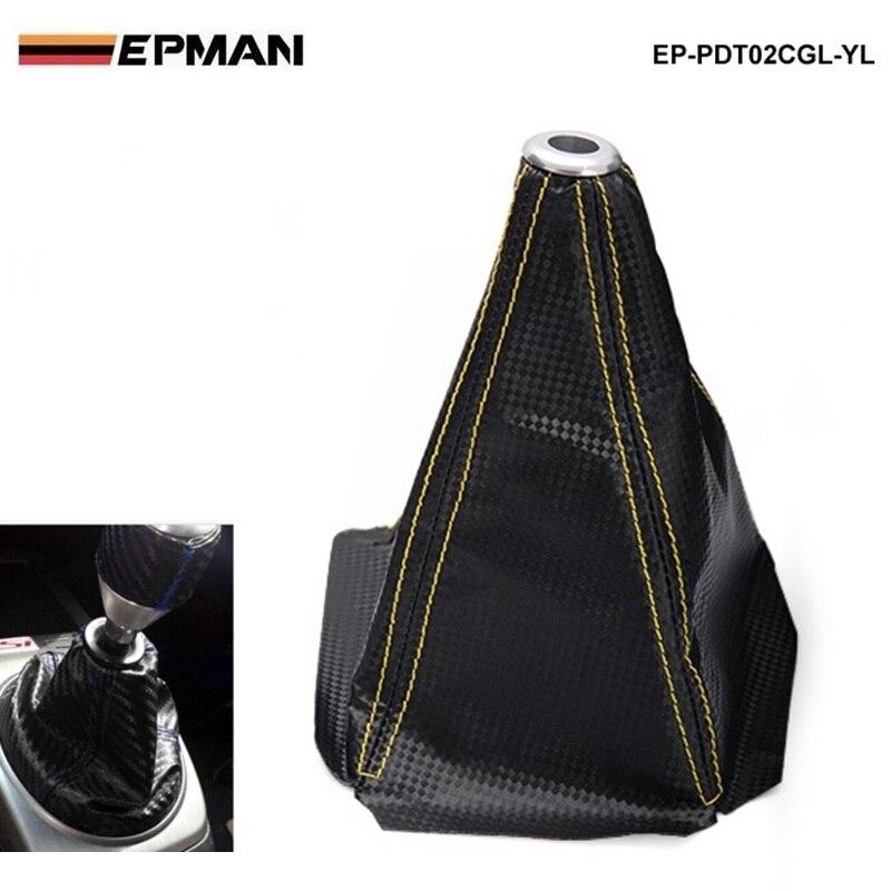Perilla de la palanca de cambios de la fibra de carbono negro - Accesorios de interior de coche - foto 6