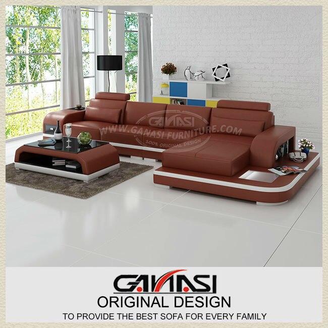 Genuine Leather Modern Sectional Sofa: Modern Sofa,Italy Genuine Leather Sofa Design-in Living