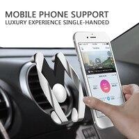 فقط من الصوت منفذ الهواء سيارة حامل لفون سامسونج سيارة abs المواد تعديل سيارة حامل الهاتف