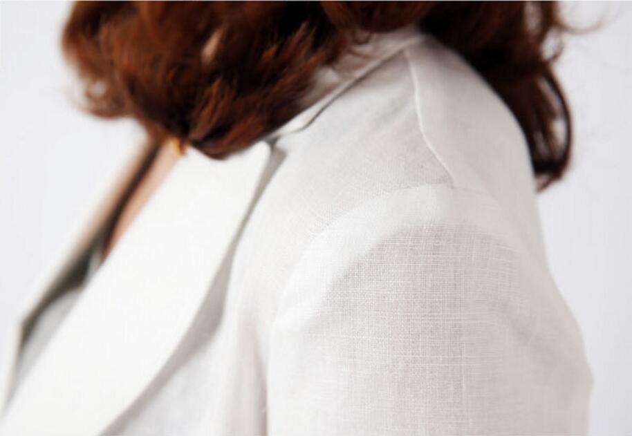 Printemps Automne White Mince Femmes 2018 Blazer Blazers La Quarts allumette Tout Nouveau Costume Taille Vestes navy W153 Plus D'affaires Trois Iw0xU8pxOq