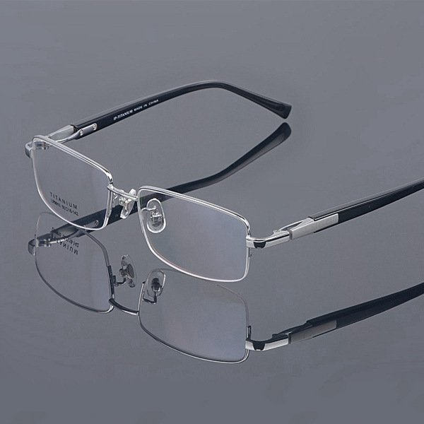 Ip chapado de gama alta hombres de titanio puro de gafas completa ...