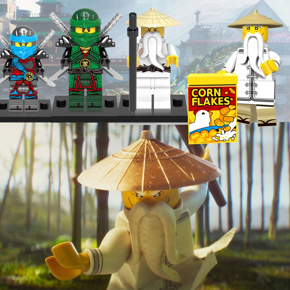 Blocks Legoing Ninjagoed Master Wu Killow Chew Master Wu Lloyd Baron Jay Zane Kai Harumi Muzzle Nya Figures Blocks Toy Kid Ninja Legoed