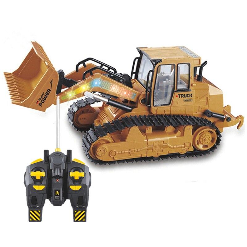 2,4 Ghz camioneta RC eléctrica Bulldozer ingeniería vehículos modelo de Control remoto coche niños juguete para niños regalos 2019 nuevo en el centro de bomberos escalera Camión grúa helicóptero Compatible legotely ciudad 60216 bloques de construcción juguetes regalo de Navidad
