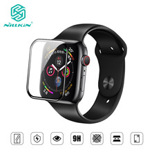 Nillkin para apple watch 4 series 4 capa completa 3d vidro temperado protetor de tela 0.33mm para apple watch 3/2/1 (44/40/42/38mm)(China)