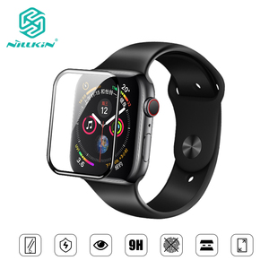 Image 1 - NILLKIN For Apple Watch 4 series 4 Full Cover 3D  tempered glass screen protector 0.33 mm For Apple Watch 3/2/1 (44/40/42/38mm)