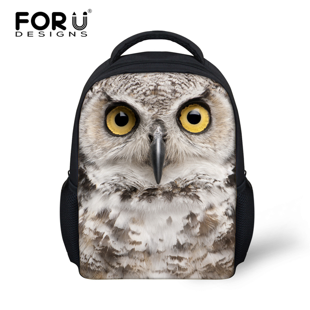 dd5b3f974a6 3D Zoo Animals School Bags for Kindergarten Baby Girls Boys Cool Owl Panda  Printed Small Backpack Mochila Infantil Kids Book Bag-in School Bags from  ...