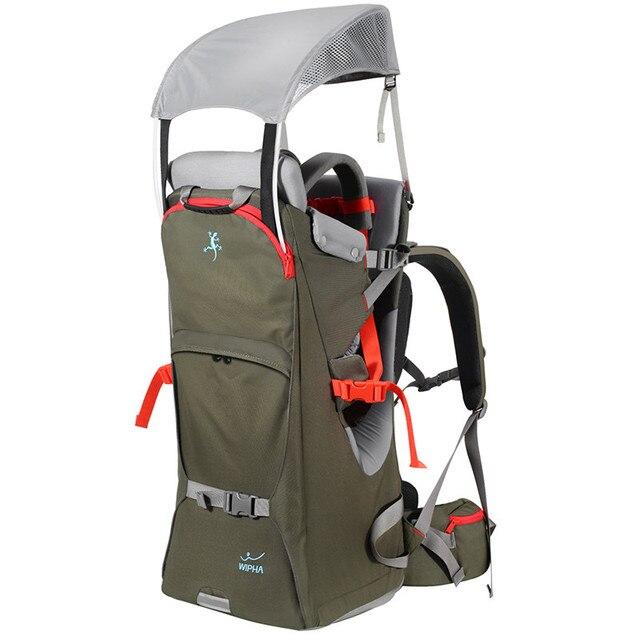Opvouwbare Baby Reizen carrier Waterdichte Peuter Wandelen Rugzak Outdoor Bergbeklimmen Baby back Frame Stoel Klimmen