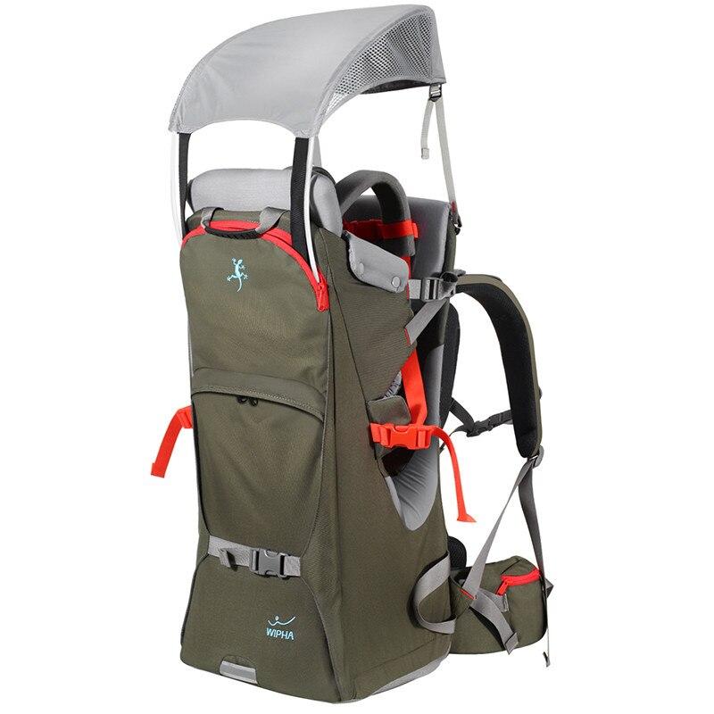 Pliable bébé voyage transporteur étanche bambin randonnée sac à dos en plein air alpinisme bébé dos cadre chaise escalade