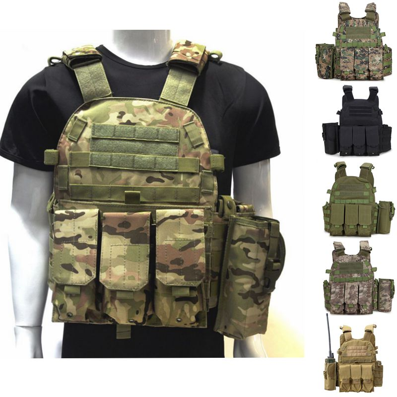 Tactical Vest Military Molle Vest Outdoor Hunting Shooting Wargame CS Military Gear Army Combat Airsoft Protection Vest top quality 1000d military vest airsoft tactical equipment hunting molle combat vest hunting gear police clothes