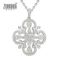 Fashionable Romance 18 k gold diamond Luxury Pendant Charming for lady collarbone chain link Chain