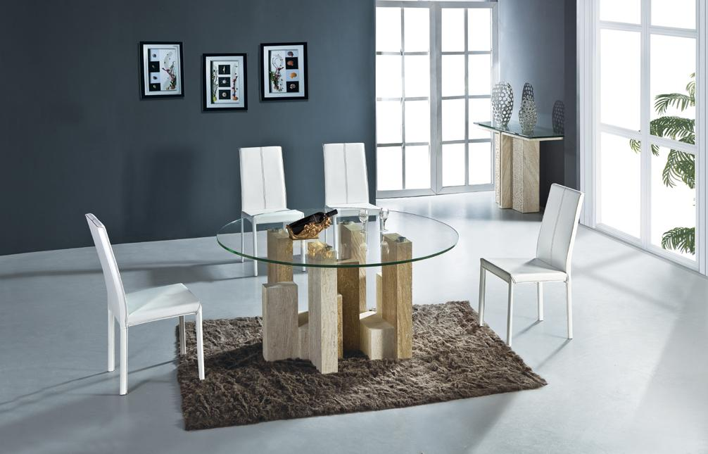Natural Travertine Dining Table Set White Travertine And Yellow Travertine  Art Marble Dining Furniture Table Set