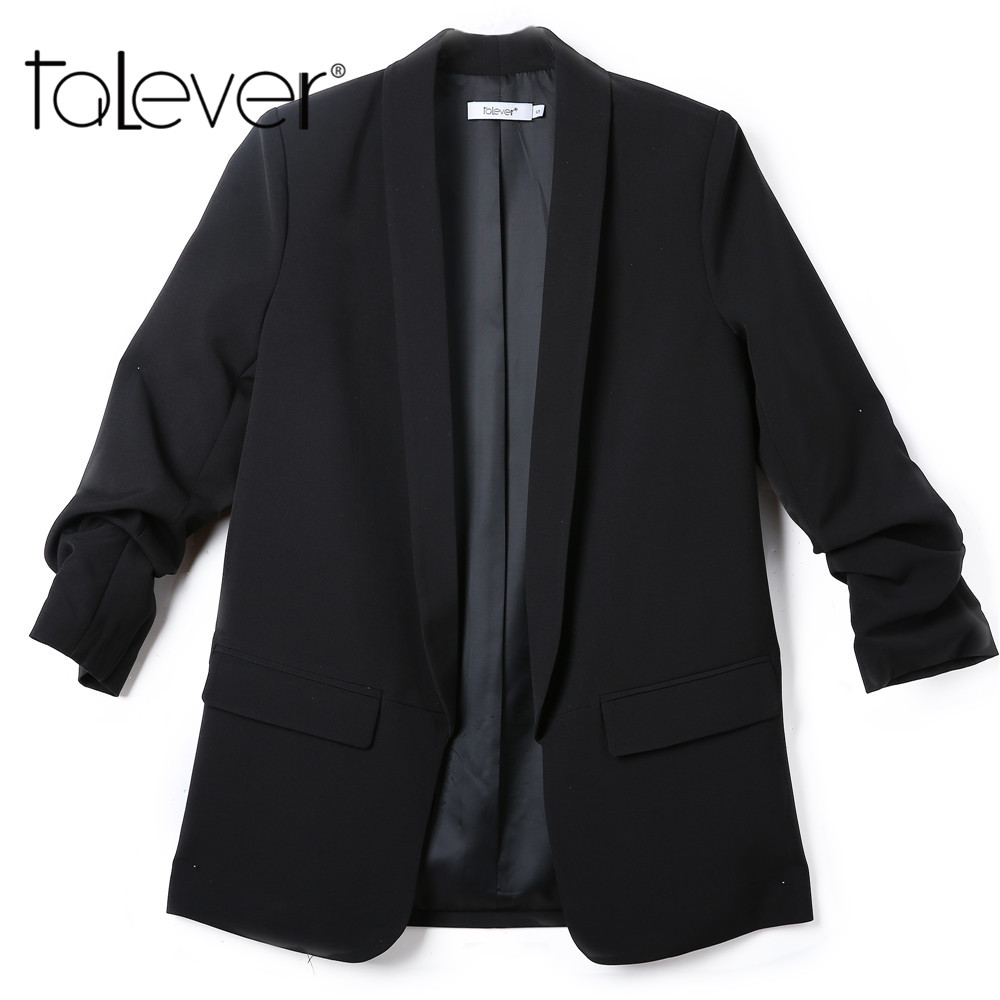 Blazers And Jackets: Women Blazers And Jackets Three Quarter Sleeve Office
