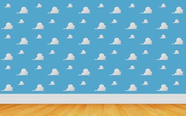 7x5FT Toys Story Cartoon Nuvole Bianche Cielo Blu
