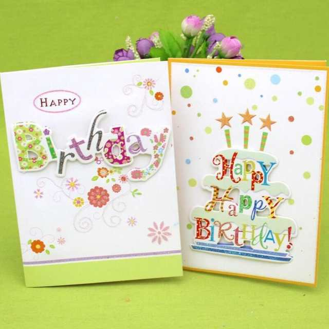 Placeholder 10 Pcs Lot 3D Folding Music Cards Handmade Birthday Greeting Card With Envelope Happy