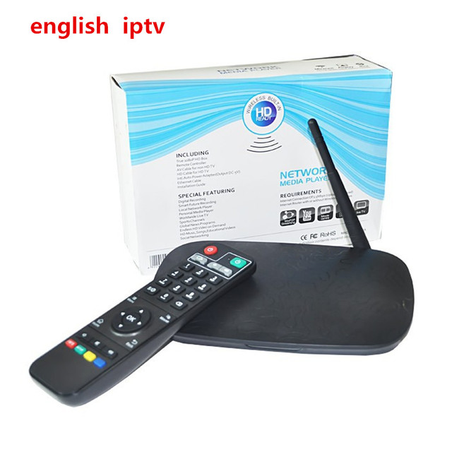 US $125 0 |Android TV BOX V9 Pro With 1Year English IPTV APK Included  500+Africa Arabic USA England Indian Italy DE French SD/HD Channels-in  Set-top