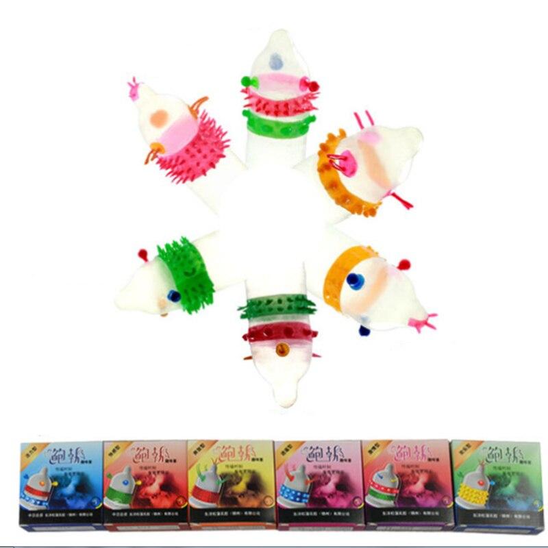 Zerosky 60pcs 6 Types Ultra Thin Latex G Spot Condom Hot Sex Products Latex 3D Enhance Special Condoms