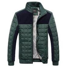 HOT Men Jacket Thicken Winter Jacket Men Windbreaker Jacket For Men Slim Warm Casual Cotton-Padded Men Coat Black Green