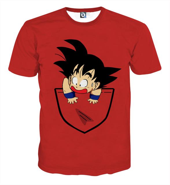 New 2017 Dragon Ball T-Shirts Kanji Goku Vegeta Gohan