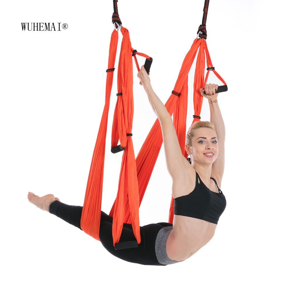 Anti-Gravity Yoga Hammock Fabric Yoga Flying Swing Aerial Traction Device Yoga Hammock Set Equipment For Pilates Body Shaping