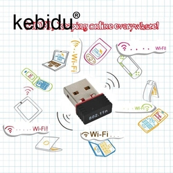 Kebidu Мини USB Сетевая LAN Карта 150mbps WiFi беспроводной адаптер 802,11 n/g/b RT для телефона для ПК