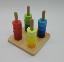 New Wooden Baby Toys Montessori  Colorful Cylinder Quill Baby Educational Toy Baby Gifts new wooden baby toy montessori wooden three times baby educational toy baby gifts