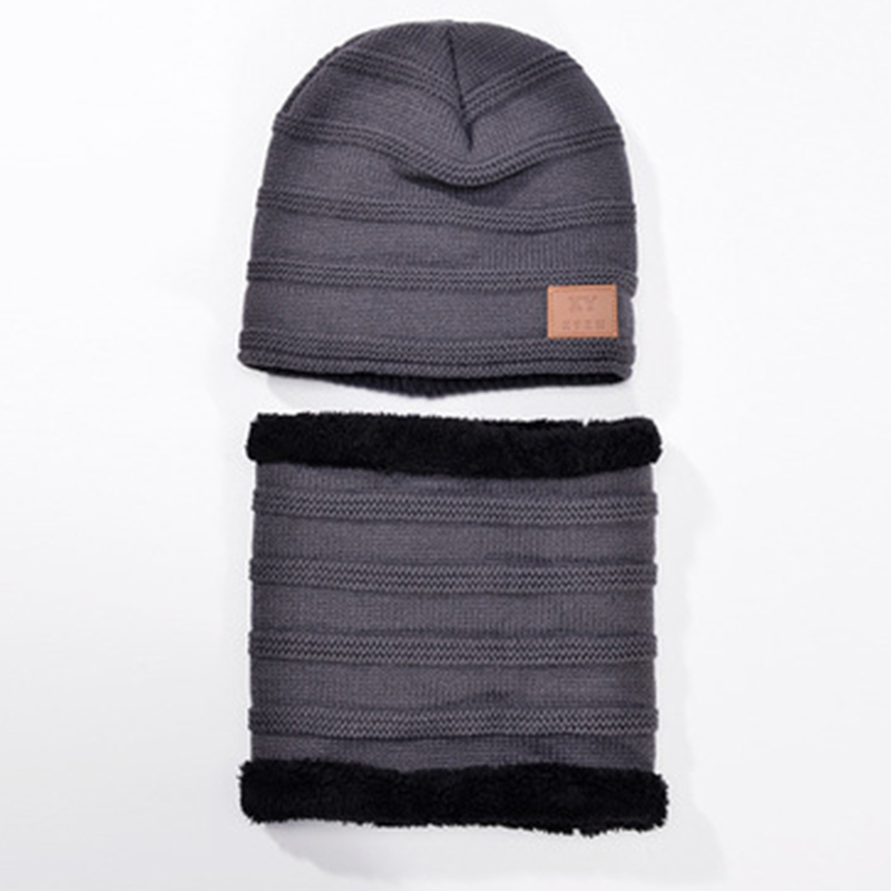 0eba77f0f7e Unisex winter warm knitted beanie cap with scarf soft beanies hat with  cashmere inside women warm