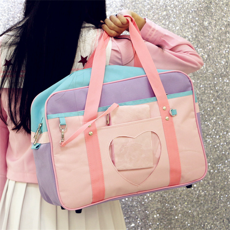 2 Maneras Sailor Moon Lolita Bowknot Bolso Mochila Packbag  Estilo Preppy Mensaje Hombro Estudiantes Cosplay Mujeres Chica #1