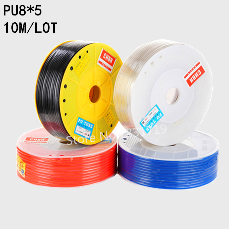 10M/Lot PU8x5 8mm OD 5mm ID Pneumatic PU Tube Hose PU8*510M/Lot PU8x5 8mm OD 5mm ID Pneumatic PU Tube Hose PU8*5