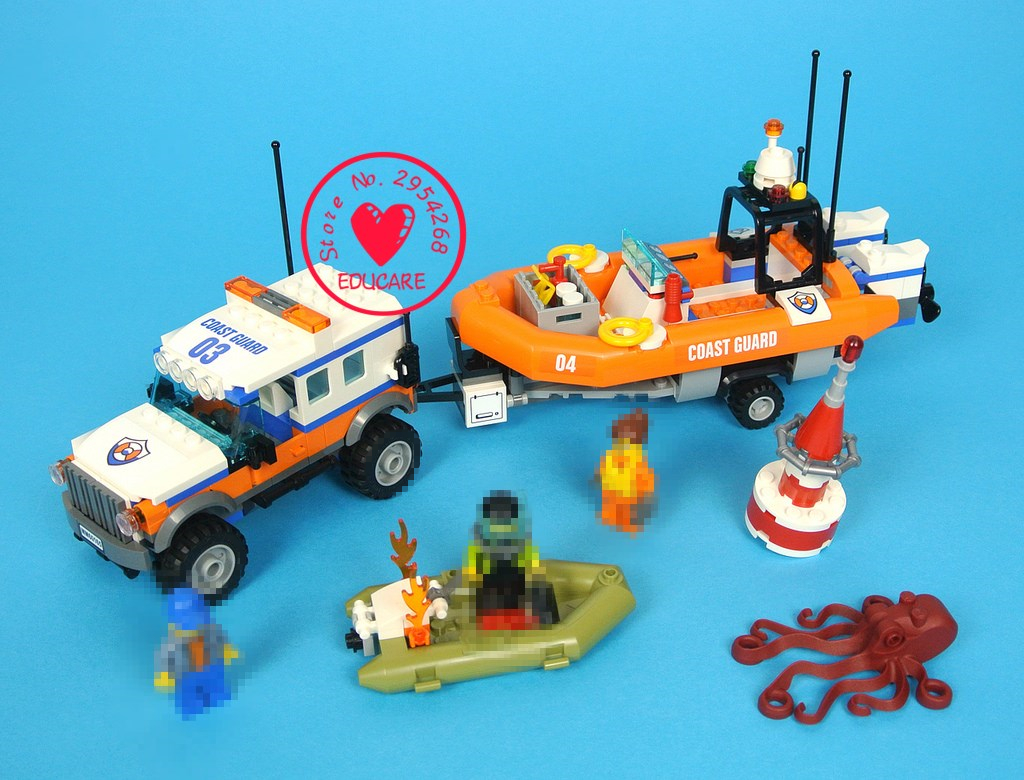 Lepin 02067 375pcs City Series Jeep Rescue Team Remain Coast Guard model Building Block Bricks kit set Toy gift 60165 christmas ynynoo lepin 02043 stucke city series airport terminal modell bausteine set ziegel spielzeug fur kinder geschenk junge spielzeug
