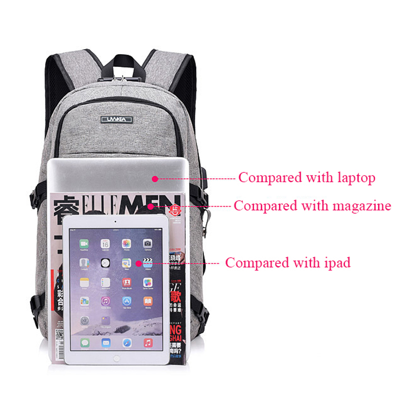 Hot Men Backpack USB Charging Password Prevent Theft Bag Large Capacity Stundet Backpacks Teens Travel Bag Laptop Bags