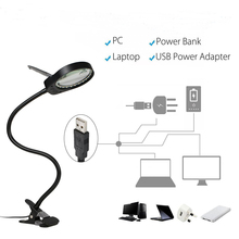 Multi-function Dual Lens 3X and 10X Magnifying Glass Clip Magnifier LED lamp With Adjustalble Light for Reading-Black led magnifier light 5w magnifier 3x 10x large lens magnifying light for reading embroidering inspection clip on table lamp
