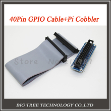 Free shipping 1pcs 40pin Raspberry pi cobbler + 1pcs 40pin GPIO cable for Raspberry pi 2 or Raspberry pi b plus diy kit