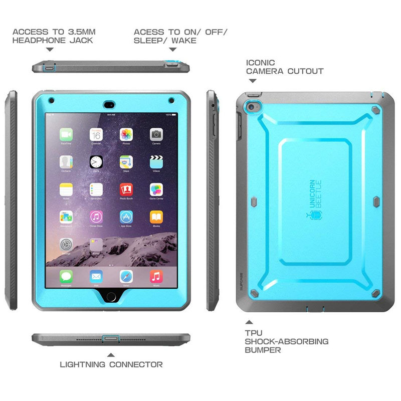 Image 3 - For ipad Air 2 Case SUPCASE UB Pro Full body Rugged Dual Layer Hybrid Protective Cover with Built in Screen Protector For Air 2Tablets & e-Books Case   -