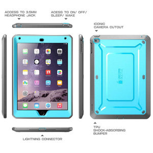Image 3 - For ipad Air 2 Case SUPCASE UB Pro Full body Rugged Dual Layer Hybrid Protective Cover with Built in Screen Protector For Air 2