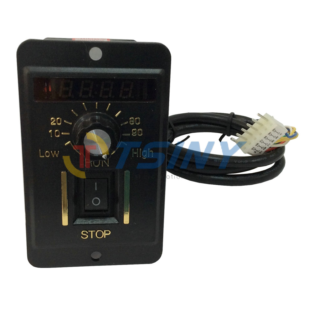 220V 200W Digital Display Electrical Reversible Motor Speed Controller Switch цена