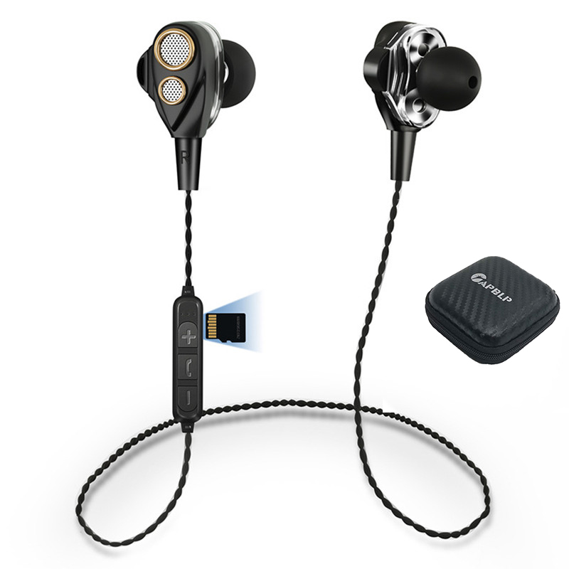 SMN15  Four Speakers 6D Surround Sound Bluetooth Earphones With TF Card Play Stereo Bass Sport Wireless Headphone For Phone