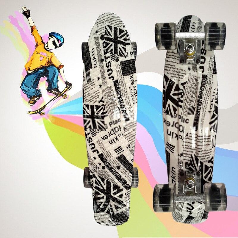 Planche a poisson planche peny imprimé mini planche a roulettes planche a roulettes trottinette planche a roulettes longboard camion patin freeline patins CL42 - 2