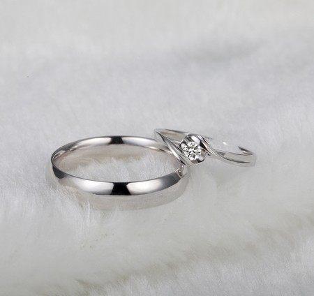 Online Shop GVBORI Wedding Couple Rings ManWoman Diamond Engagement
