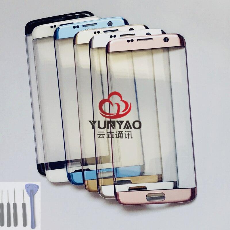 New Outer LCD Avant Écran Lentille En Verre Couverture Pièces De Rechange Pour Samsung Galaxy S7 bord G935 G935F G935FD Tactile Écran