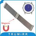 20mm Milanese Bucle Correa para Pebble Vez/Bradley Reloj Banda de Acero Inoxidable Pulsera Magnética de Bloqueo de Liberación Rápida