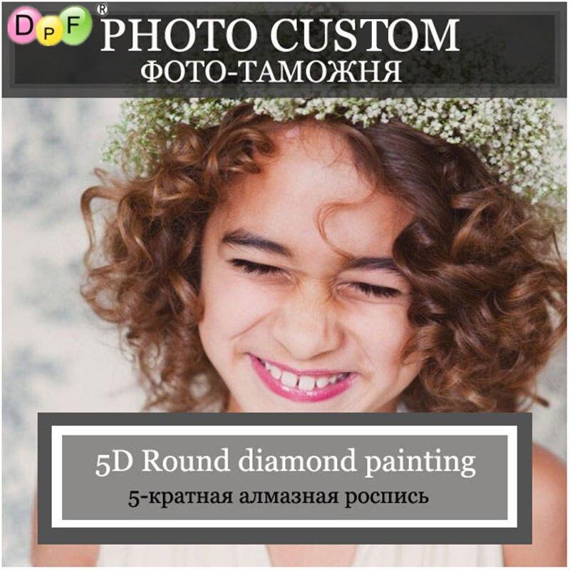 DPF Foto Personalizado Diamante Bordados artesanato personalizado Privada completa rodada pintura diamante do ponto da cruz de Fazer O Seu Próprio diamante Mosaico