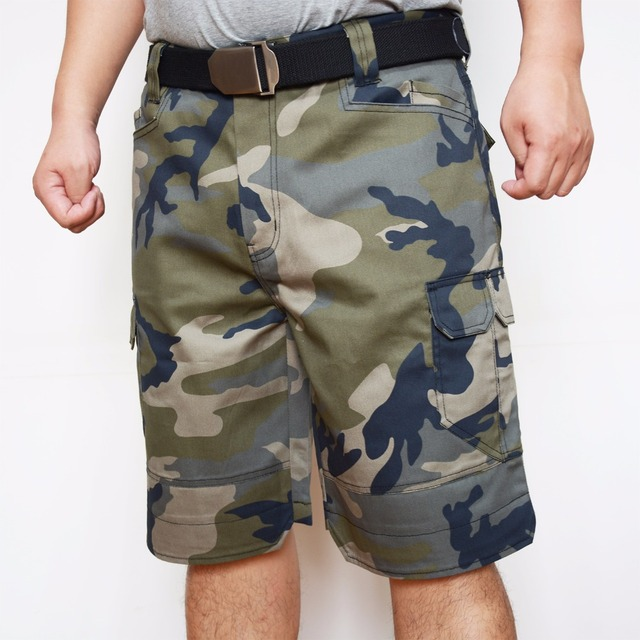 Men Camo Camouflage Short Tactical Military Short With Multi-Pockets Summer Casual Short for Men Hard Wearing ID805-C