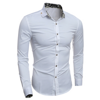 Fashion Brand Men Color Lining Shirt Business Korean Version Shirts Long-Sleeves Tops Men's Summer Casual Shirts XH995150