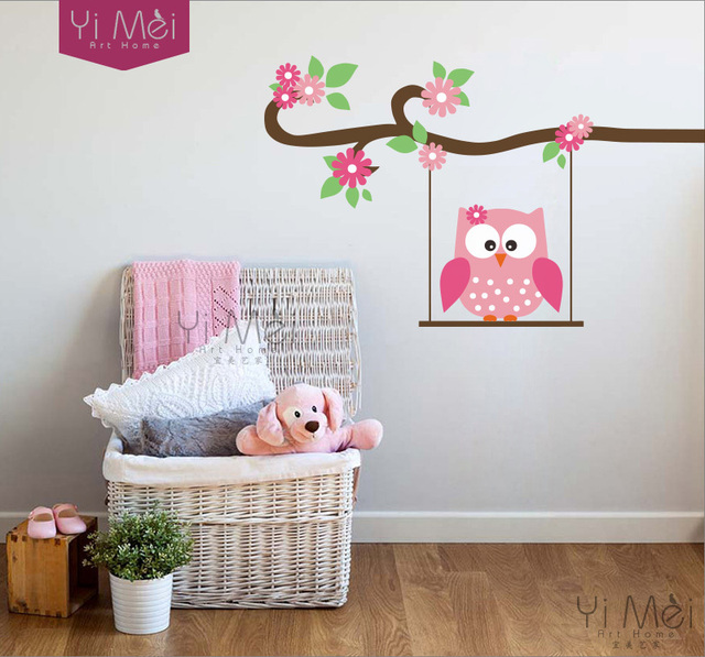 Owl Tree Wall Sticker Decal Nursery Decor Wallpaper Home Decoration