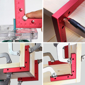 Image 5 - 2 pc 90 Degrees L Shaped Auxiliary Fixture Splicing board Positioning Panel Fixed clip Carpenters Square Ruler Woodworking tool