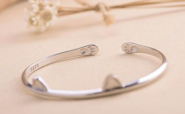 925 Sterling Silver Bangles for  Wedding Gift  Cute Animal Fashion Bracelet BangleWomen