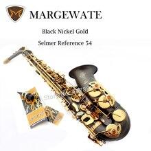 France Henri Selmer Alto Saxophone Drop E Professional Saxophone Alto Reference 54 Black Nickel Gold Saxofone Musical Instrument